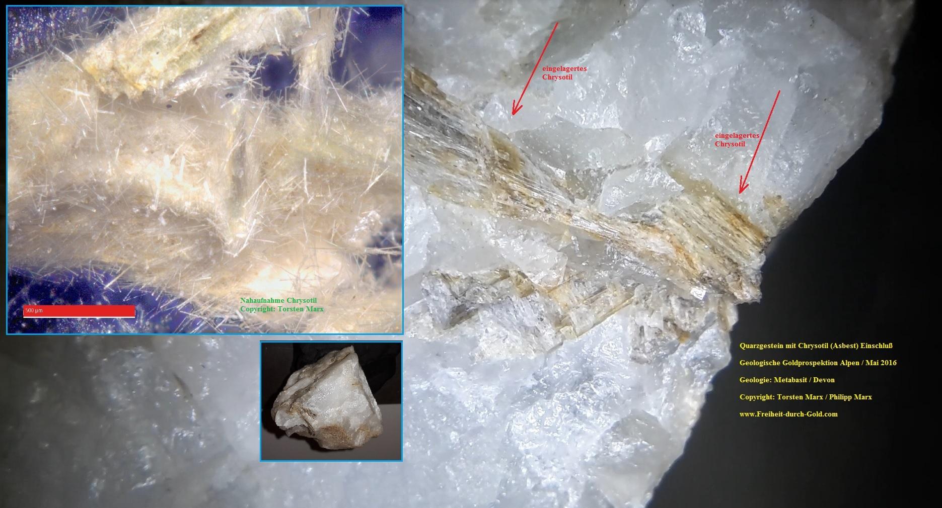 Quarzgestein mit Chrysotil - Torsten Marx